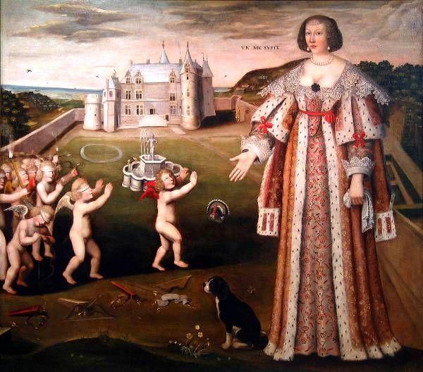 Peinture de Louis Ducis. Les Anges maudits de Tourlaville, Julien et Marguerite de Ravalet