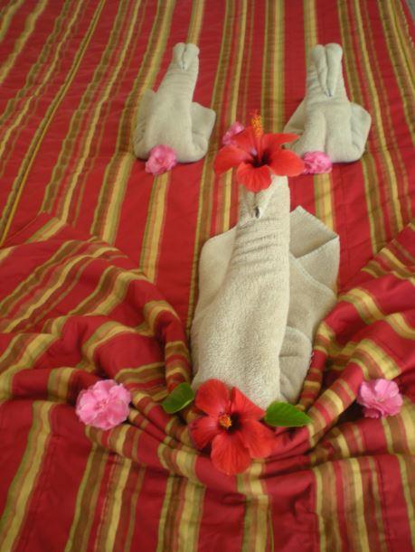 serviettes romantiques