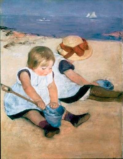 cassatt-enfants-jouant-sur-la-plage