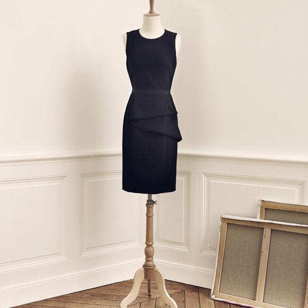 Hussein Chalayan robe noire de couturier monoprix blog