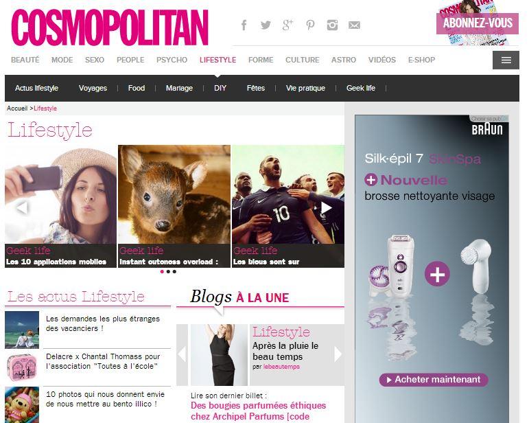 Cosmopolitan blog a la une lifestyle