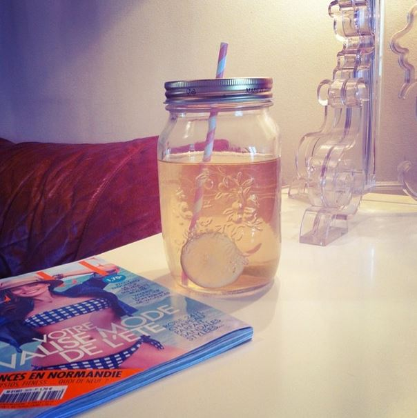 Detox water mason jar infused