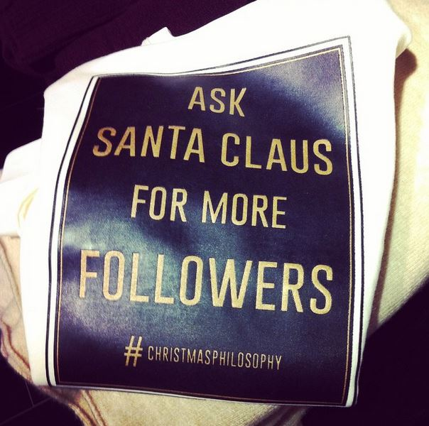 christmas philosophy pull and bear ask santa for more followers