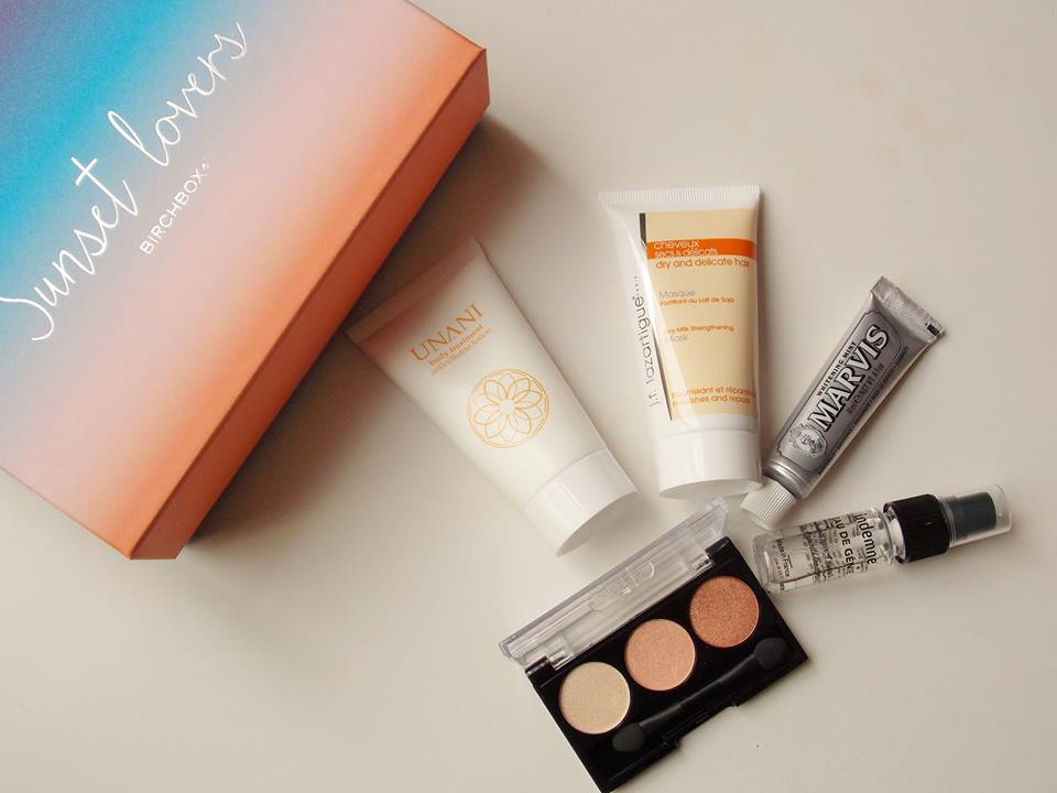 birchbox juillet sunset lovers