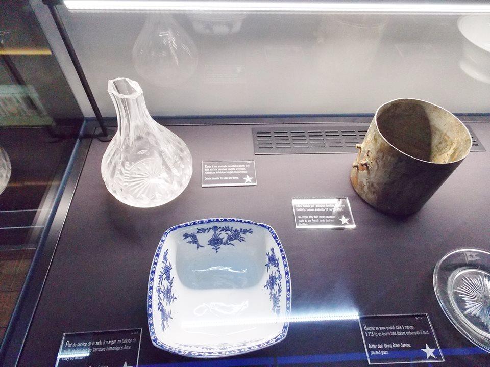 objets du titanic cité de la mer