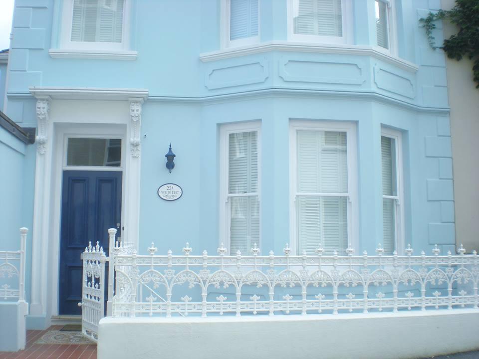 maison bleue anglaise