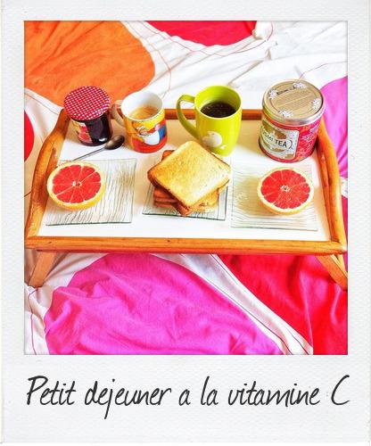 petit déjeuner vitaminé
