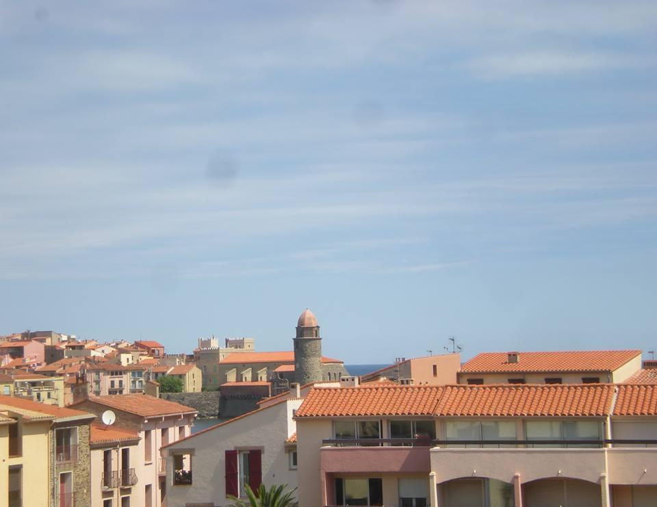 La vue sur Collioure depuis notre balcon