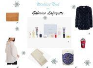 Wishlist de cadeaux aux Galeries Lafayette