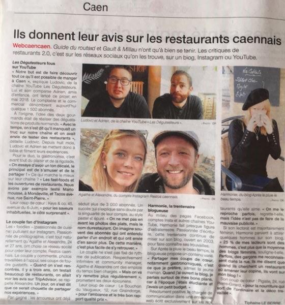 Sur Instagram ou YouTube, ils vous donnent leur avis sur les restaurants caennais