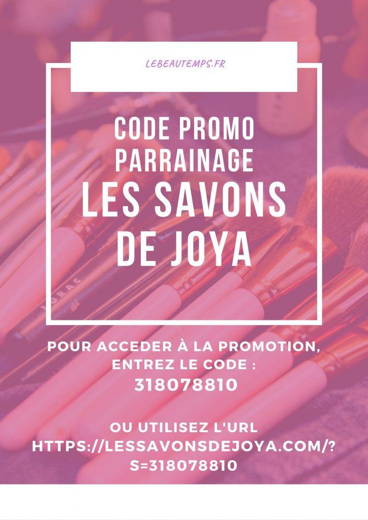 code promo les savons de joya parrainage